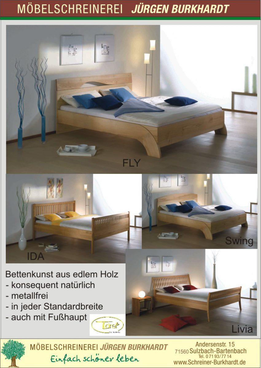 Collage Betten aus Holz