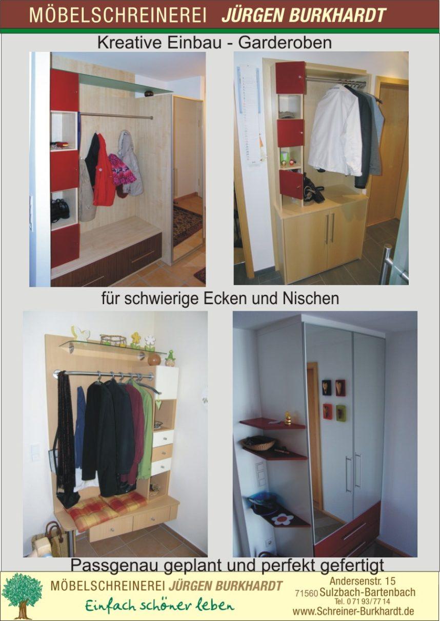 schreiner aus sulzbach fertigt einbaugarderoben f r nischen und ecken. Black Bedroom Furniture Sets. Home Design Ideas