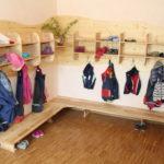 Kindergarderobe in Kindertagesstätte