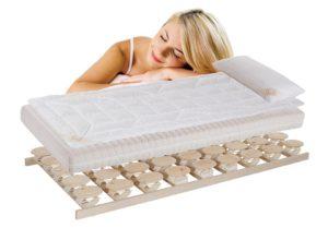 Relax Bett bestehend aus Rost, Matratze und Auflagen