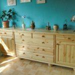 lange Holzkommode - Sideboard aus Fichte