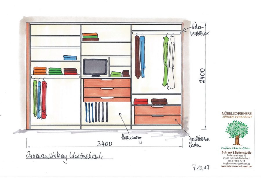 schiebet renschrank innenausstattung schreinerei burkhardt. Black Bedroom Furniture Sets. Home Design Ideas