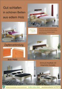 schöne Betten aus edlem Holz -wahre Meisterwerke-
