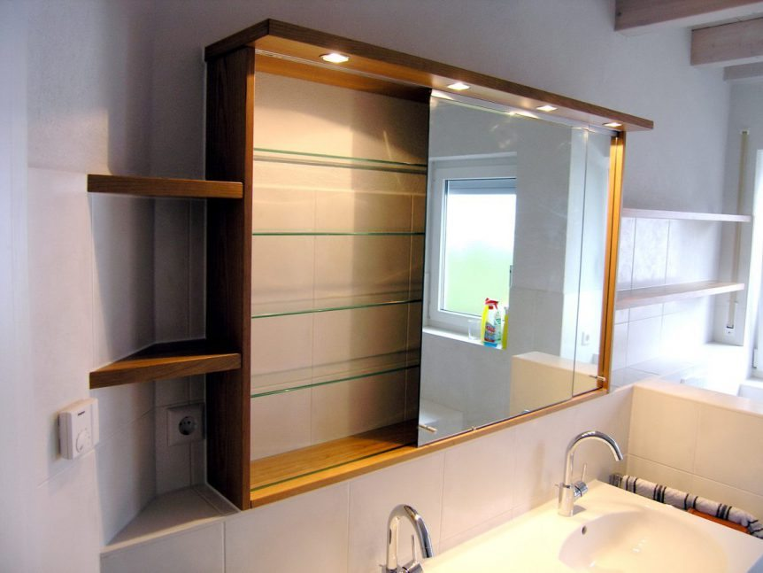 spiegelschrank mit schiebet ren von schreiner burkhardt. Black Bedroom Furniture Sets. Home Design Ideas