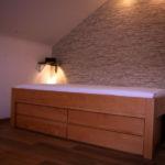 Bett mit viel Stauraum durch 4 Schubladen