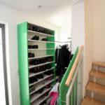 Garderobe Schuhschrank in grün und weiß