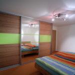 Schlafzimmer Schiebetürenschrank und passendes Bett