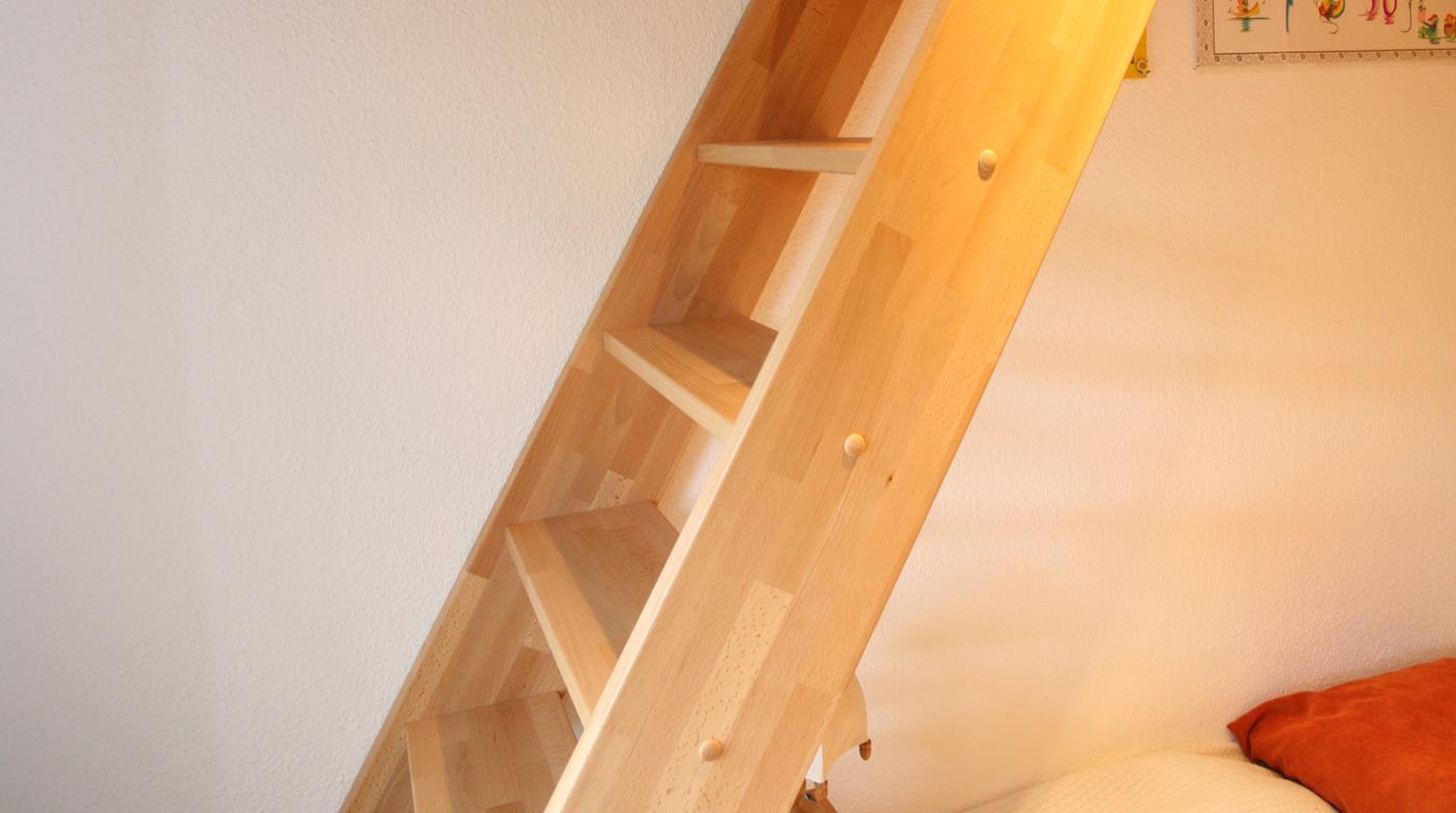 Treppe zum Bett