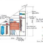 Skizze für begehbaren Kleiderschrank