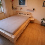 Balkenbett aus Zirbenholz
