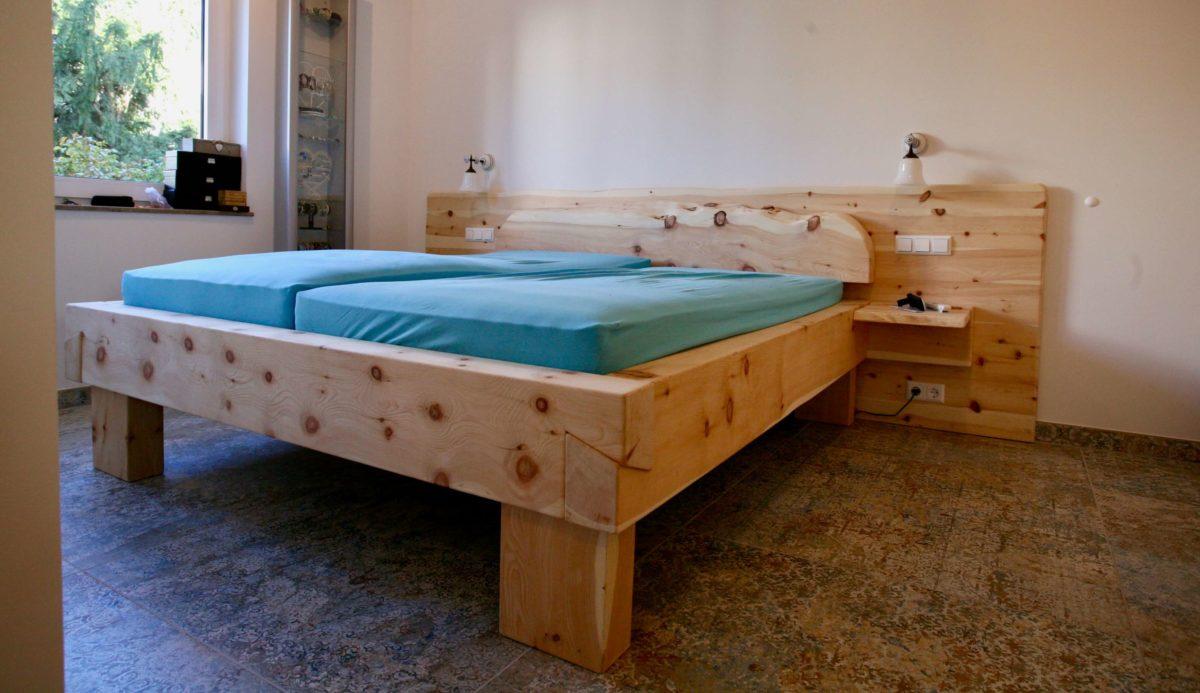 Zirbenholz für Schlafzimmer | Bett